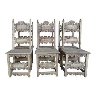 18th Century Italian Dining Chairs - Set of 6