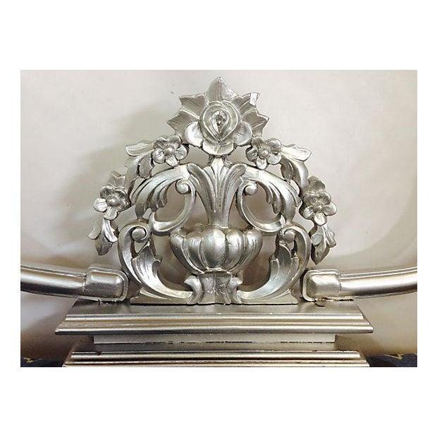 Vintage Baroque Carved Wood Upholstered Day Bed - Image 5 of 8