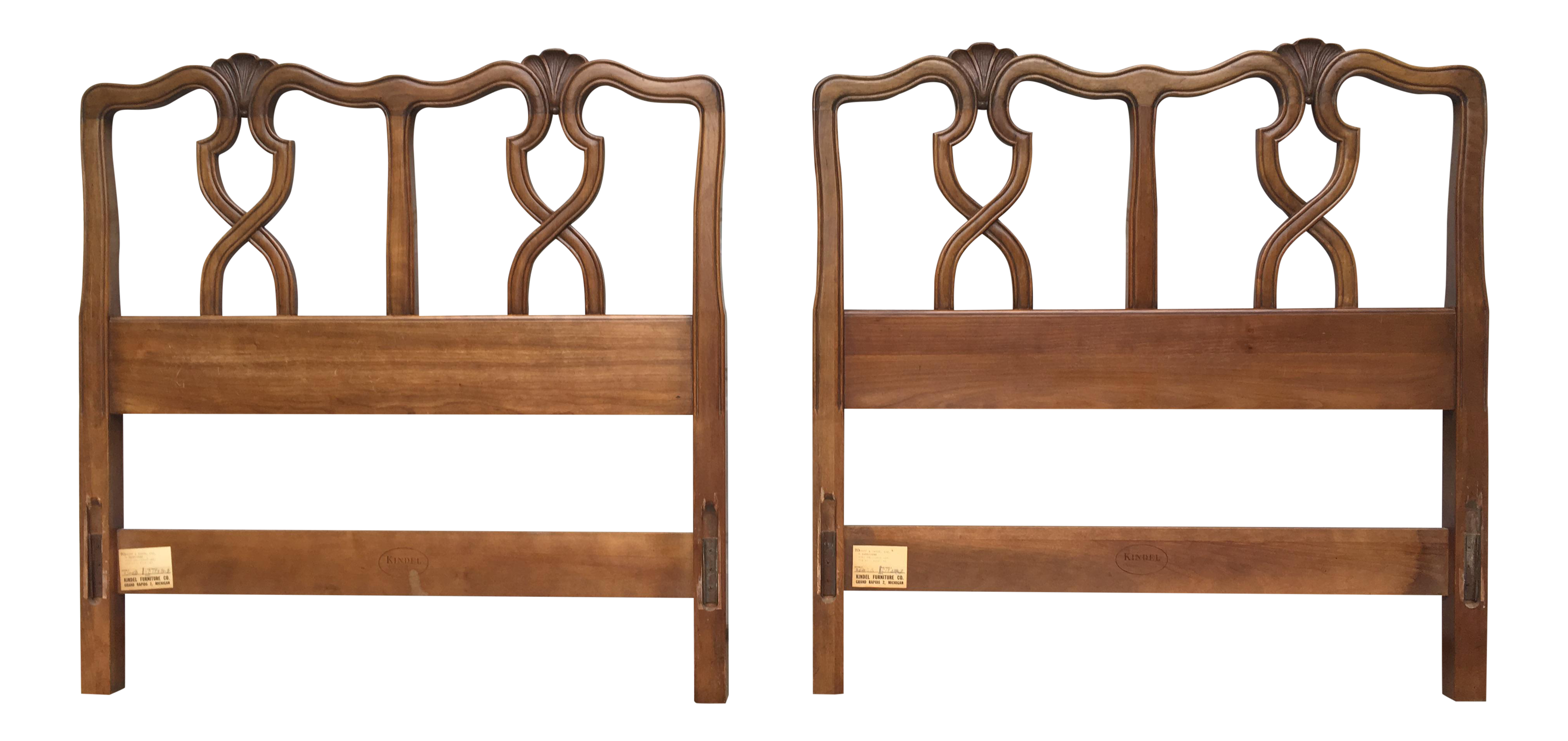 Vintage Kindel Milano Twin Headboards   A Pair