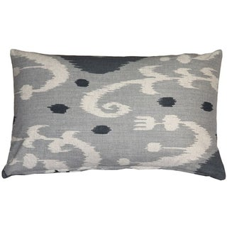 Pillow Decor - Indah Ikat Gray 12x20 Throw Pillow