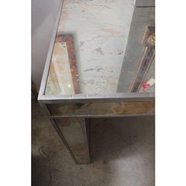 Antiqued & Mirrored Console Table - Image 4 of 9