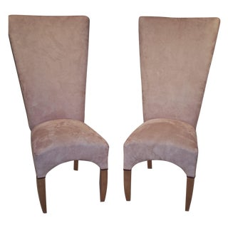 High Back Chairs - A Pair