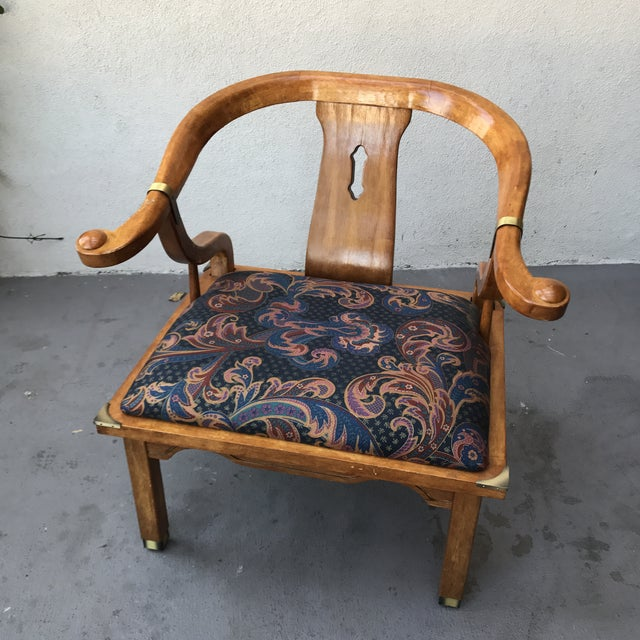Mid-Century Regency Horseshoe Chairs - A Pair - Image 3 of 7