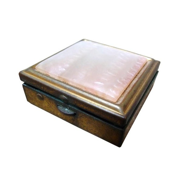 Vintage Brass & Mother of Pearl Pill Box - Image 5 of 5