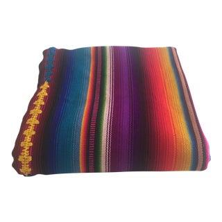 Guatemalan Serape Hand-Woven Blanket