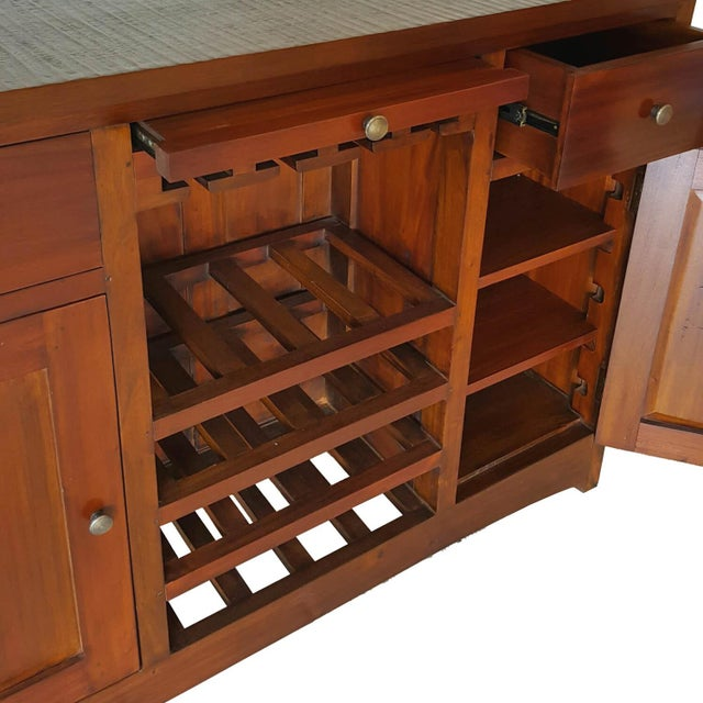 Mahogany Wood Bar Chest - Image 5 of 6