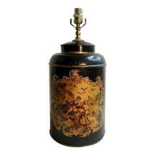 English Style Tea Caddy Lamp