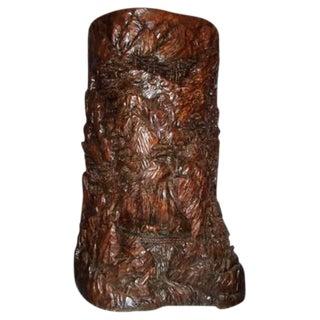 Ornate Antique Asian Carved Wood Sculpture