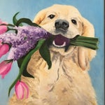 """Image of """"Golden Moments"""" Golden Retriever Painting"""
