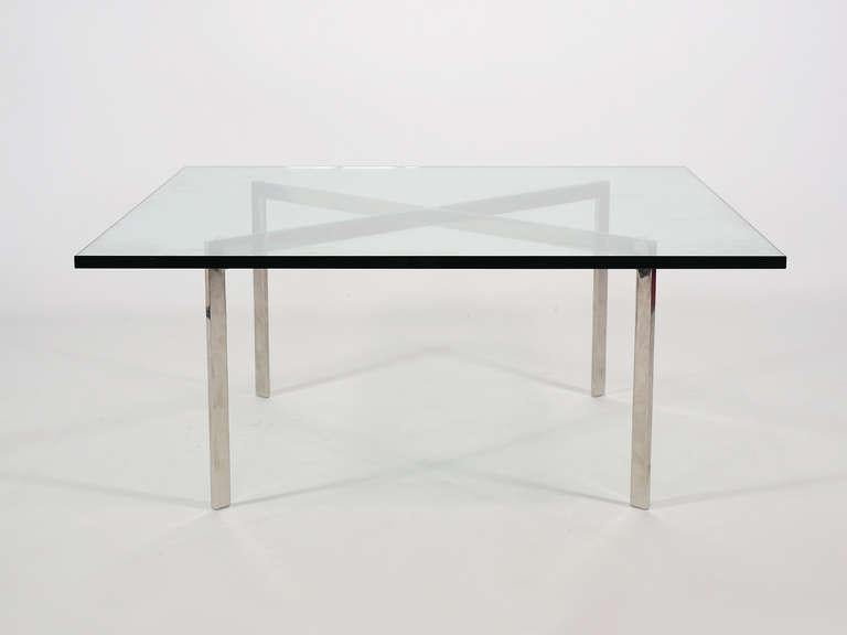 Ludwig Mies Van Der Rohe Stainless Steel Barcelona Table By Knoll   Image 4  Of 10