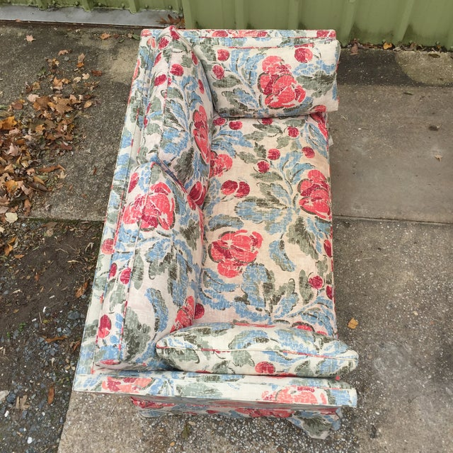 Vintage Mid-Century Modern Floral Love Seats - a Pair - Image 7 of 11