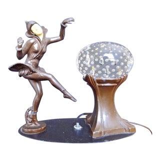 Art Deco J.B. Hirsch Gerdago Pixie Glass Ball Lamp