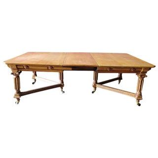 Carved Oak Dining Table