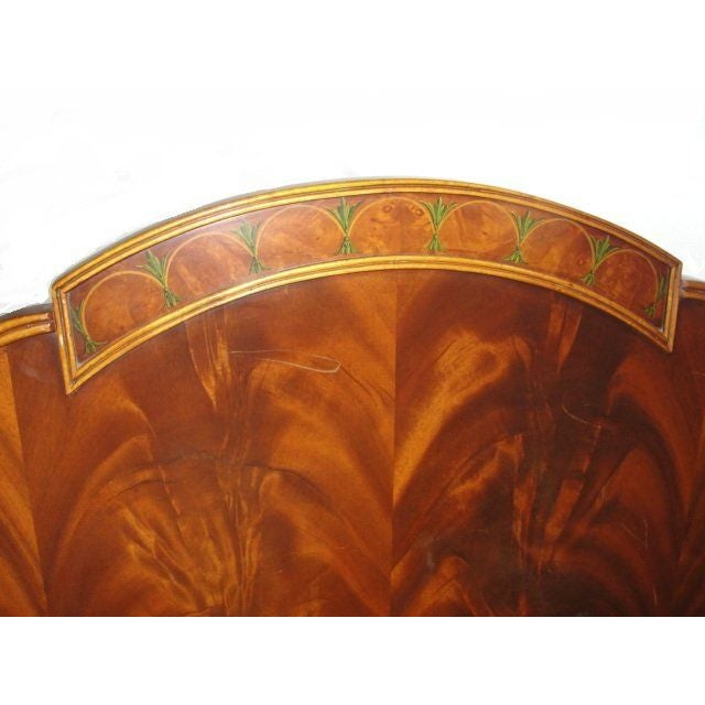 Twin Mahogany Flame Headboards - A Pair - Image 3 of 7