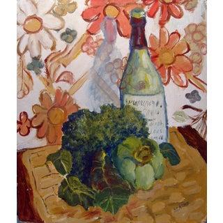 Wine & Veggies Still Life Painting