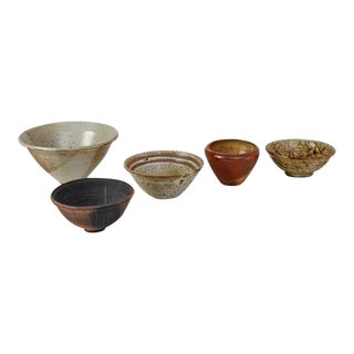 Franco Agnese Set of Five Ceramic Bowls, France, 1960s