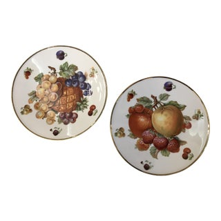 German Bavarian China Fruit Plates - A Pair