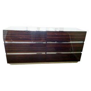 Luxor Italian Modern Ebony Dresser