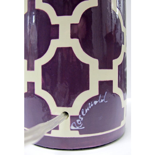 Jill Rosenwald Hampton Links Table Lamp in Purple - Image 6 of 6
