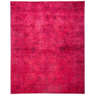 New Over-Dyed Fuchsia Rug - 8′1″ × 10′1″
