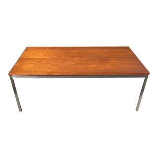 Florence Knoll Mid Century Walnut Coffee Table