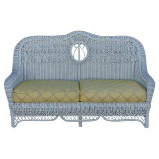 Mid-Century Vintage Fine Quality Wicker Sofa