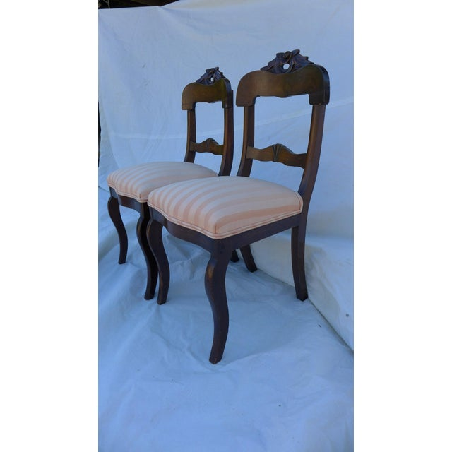 Antique Rose Carved Mahogany Chairs A Pair Chairish