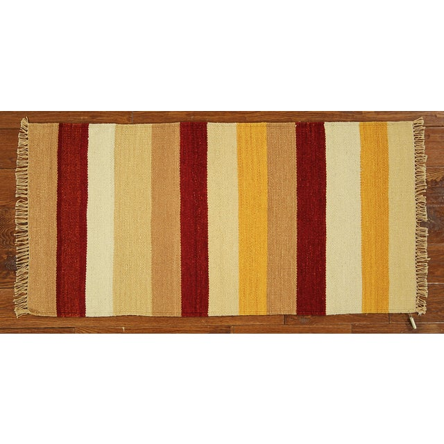 "Vegetable Dyed Navajo Style Kilim Rug - 2' x 4'3"" - Image 2 of 5"