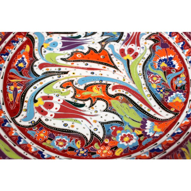 Multicolor Hand Made Turkish Plate - Image 3 of 7