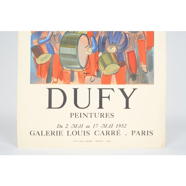 Mourlot & Raoul Dufy 1952 Exhibition Poster - Image 5 of 7