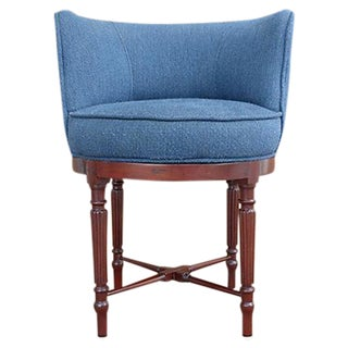 Neoclassical Swivel Vanity Chair