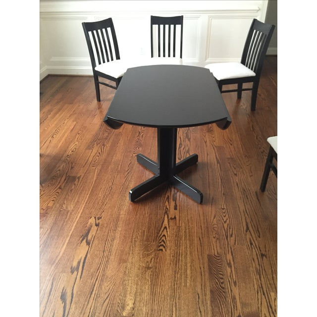 Image of Contemporary Round Dining Table & Five Chairs