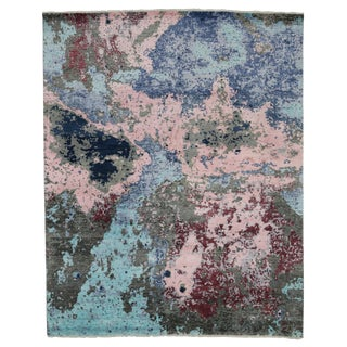 Modern Style Contemporary Abstract Paint Splatter Rug - 8′ × 12′