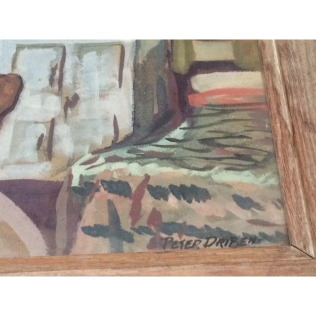 """Peter Driben Watercolor """"Retreat"""" - Image 3 of 6"""