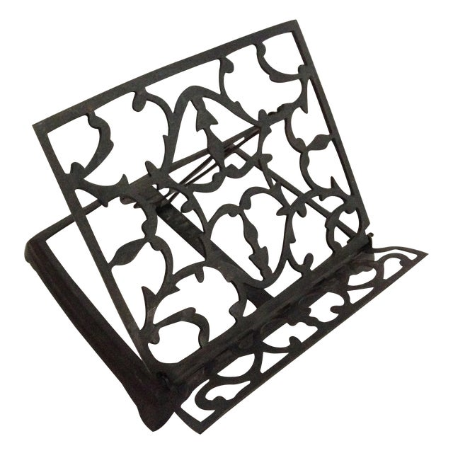 Adjustable Folding Metal Music or Book Stand - Image 1 of 8