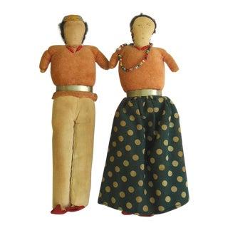 Vintage Navajo Dolls - A Pair