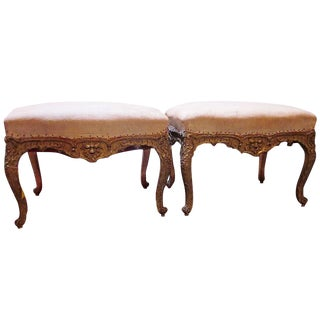 Pair of Regence Style Giltwood Tabourets