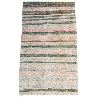 """Vintage Turkish Multi-Color Hand Made Flatweave Rug 9'2""""x5'4"""""""