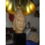Image of Mid-Century Oriental Hindu Head Sculpture Lamp