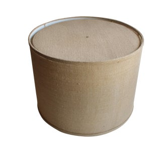 Large Burlap Drum Shade w/ Diffuser
