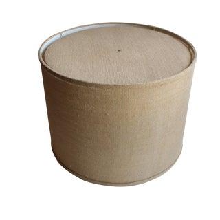 Large Burlap Drum Shade w/ Diffuser