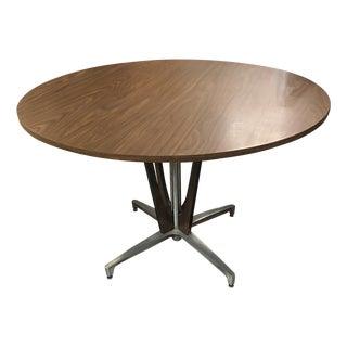 Mid Century Modern Aluminum Pedestal Dining Table