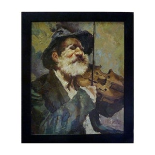 Oil Painting of a Violinist by Paul Fisher
