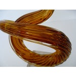 Image of Murano Amber Glass Objet