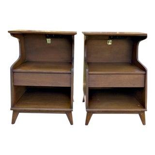 Heritage Henredon Walnut Side Tables - Pair