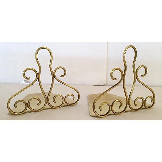 Image of Tschappu Glarus Brass Bookends - a Pair
