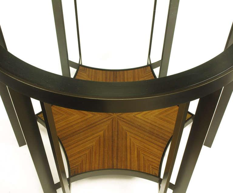 Joe Jeup For Donghia Bronze And Macassar Ebony Center Or End Table   Image  7 Of