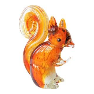 Squirrel Art Glass Figurine