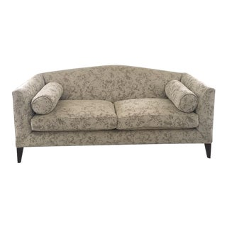 Contemporary Taupe Sofa With Pillows
