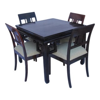 Antique Ming Style Game Table with Rosewood Chairs